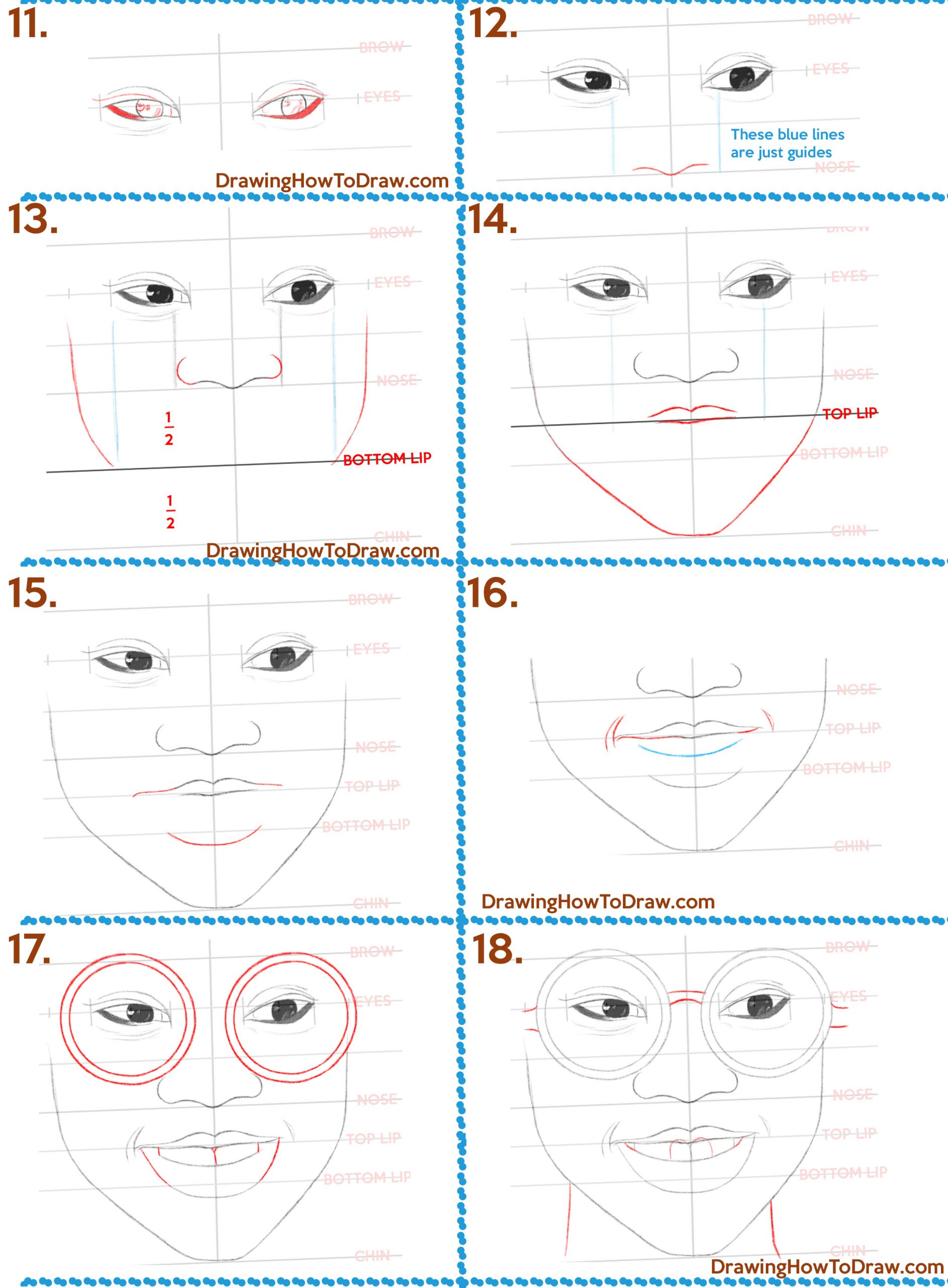 How To Draw A Black Girl Step By Step : black, Black, Girl's, Woman's, Glasses, Drawing, Tutorial, Beginners, Tutorials