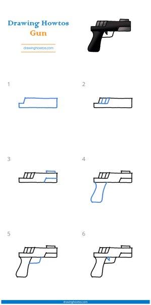 gun drawing draw step easy steps pdf guide tutorial