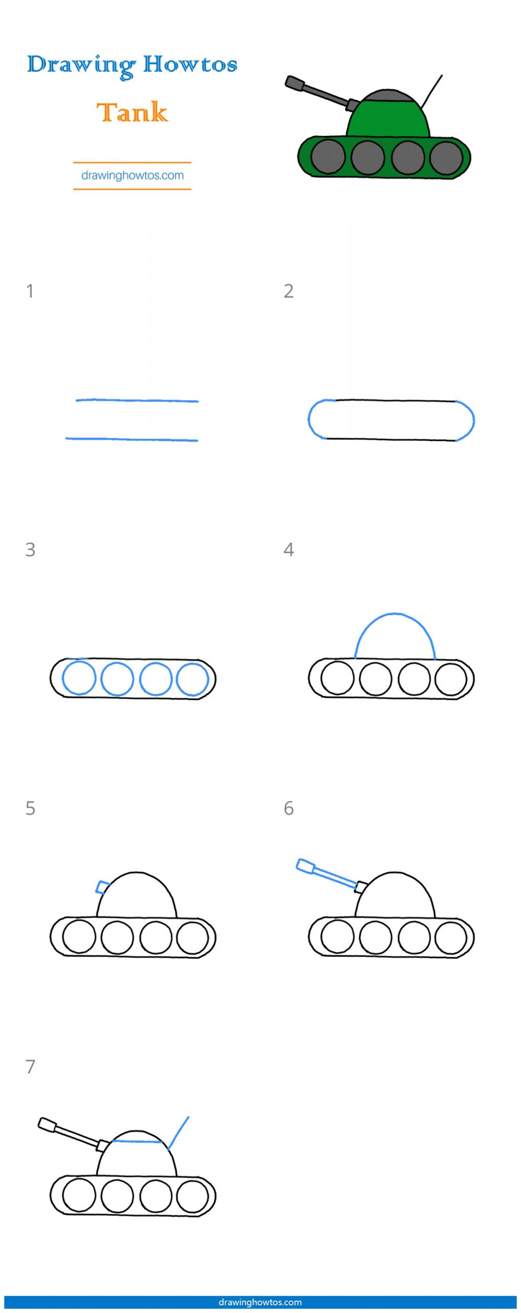 How To Draw A Tank Easy : Drawing, Guides, Howtos