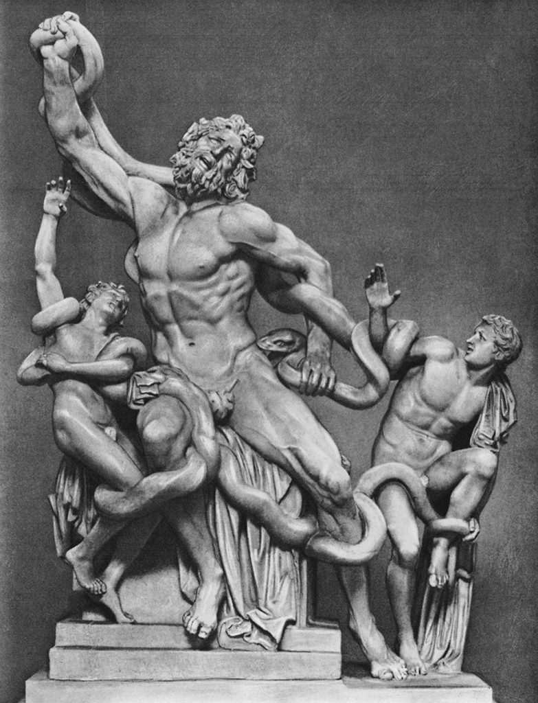 Laocoön and His Sons Statue Stretched Arm
