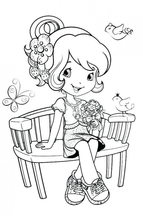 Strawberry Shortcake Coloring Pages Drawinginsider