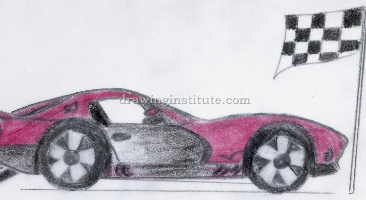 sports car how to draw trustssc