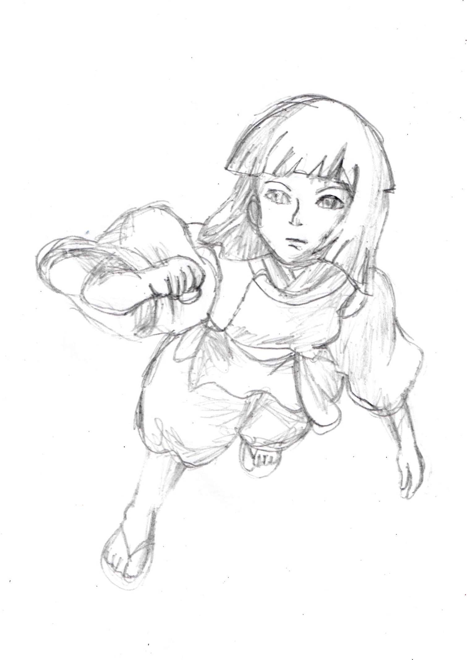 Spte by step tutorial of Anime Manga character from