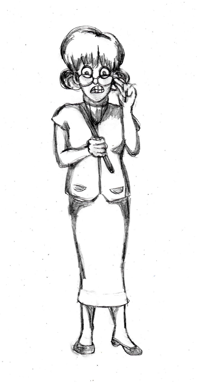 Drawing tutorial of a Teacher