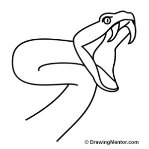 snake drawing draw easy drawings step cool striking 3d simple sketch animal learn outline different poses line slithering things tattoo
