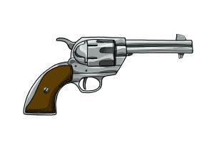 draw gun pistol drawing easy drawings step drawingnow
