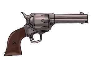 guns draw gun roses drawing drawings easy drawingnow symbol step