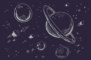space draw drawing outer galaxy planets drawings planet telescope scene jam easy google step interesting hubble zoeken stuff drawingnow charcoal