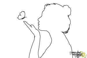 silhouette draw coloring step drawingnow steps