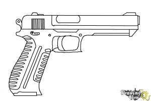 gun draw easy coloring step drawingnow