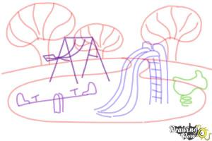 playground draw playing step easy drawingnow steps