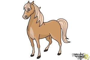 horse draw easy drawing drawings horses step cartoon steps clipart drawingnow tutorials job friends