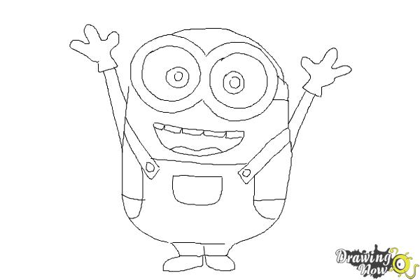 Easy Minions Coloring Pages Bob Sketch Coloring Page