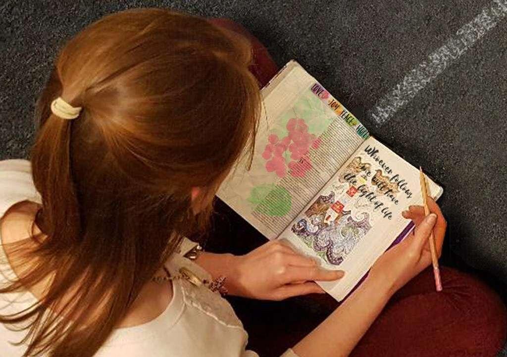 Bible journaling is a great way to memorise Bible verses