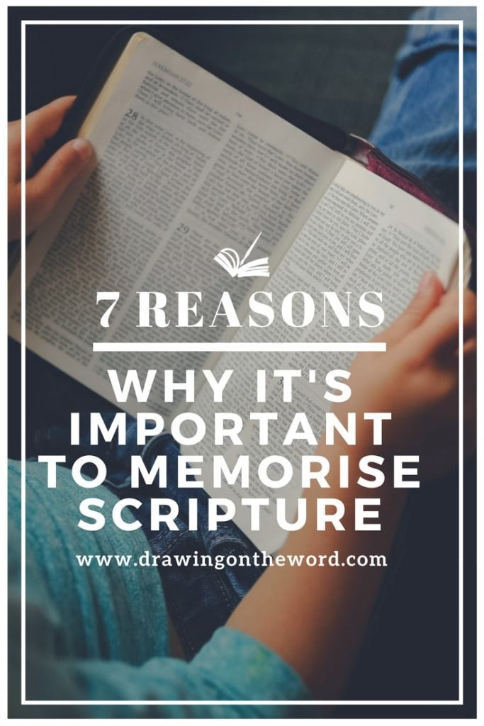 7 reasons why it's important to memorise scripture