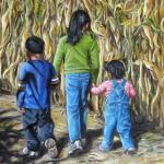 Alyssa, Jayden and Lauryn in a Cornfield