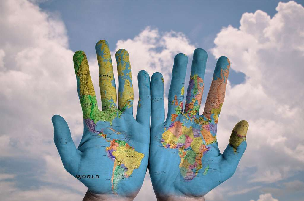 The creator has the whole world in his hands