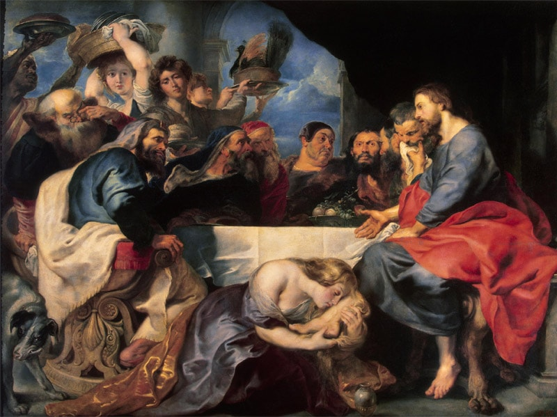 Feast in the House of Simon the Pharisee Peter Paul Rubens - Was Mary Magdalene a prostitute