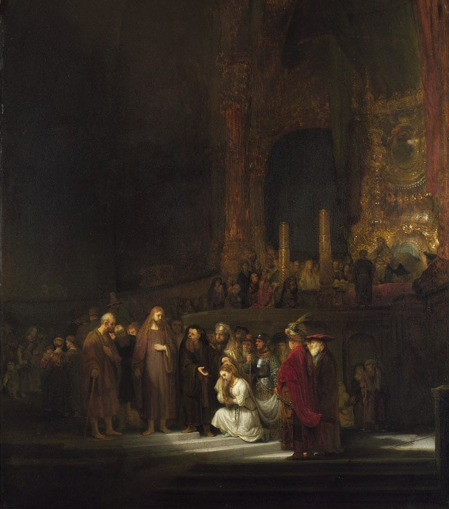 The woman taken in adultery by Rembrandt