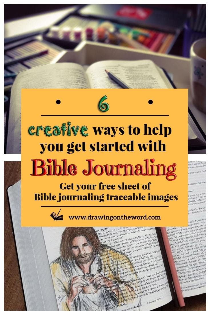Are you stuck for inspiration on how to illustrate artwork in God's word? Here are 6 creative ideas to help you get started with Bible Journaling. #bible #biblejournalingcommunity #biblejournaling #bibleart #biblestudy #journalingbible