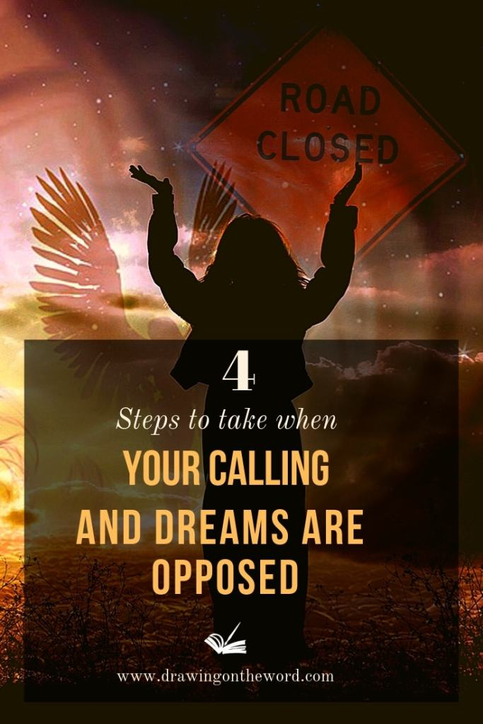 4 steps to take when your calling and dreams are opposed #calling #creativecalling #dreams #obstacles #resistance #opposition #trust #faith #spiritualwarfare #drawingontheword #dotw