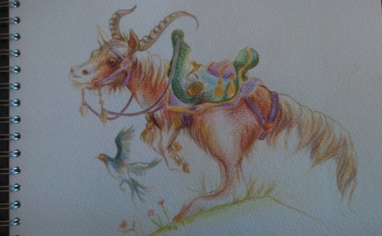 Watercolour pencil - fantasy creatures