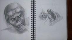 Zombie with head