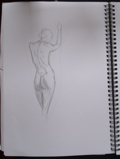 Female form - figure sketches