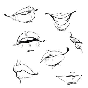 mouth drawing reference references lips face sketches head parts