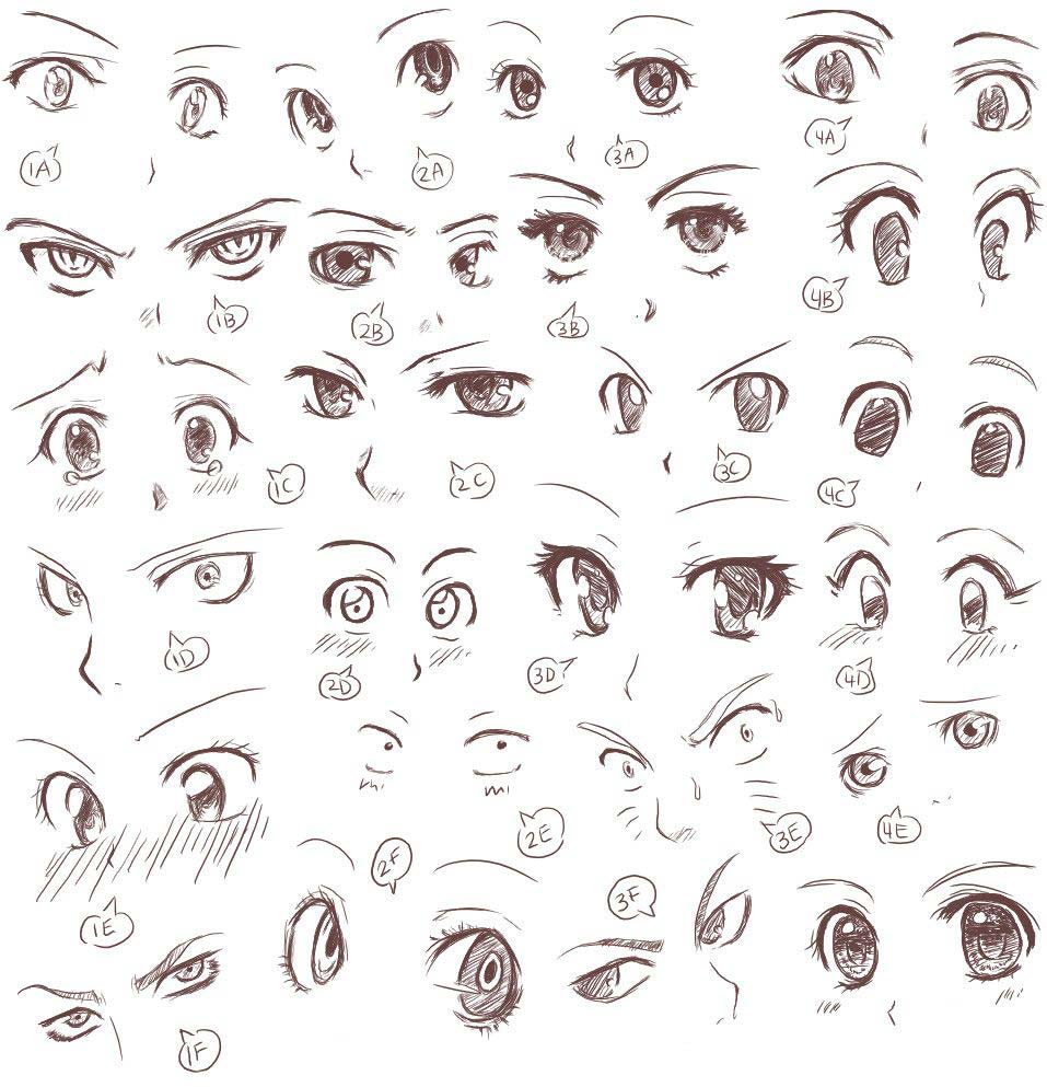 Anime and manga eyes Drawing Reference and Sketches for Artists