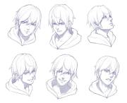 male face drawing reference