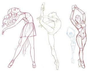 Ballet poses Drawing Reference and Sketches for Artists