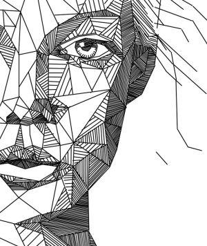 geometric drawing shape