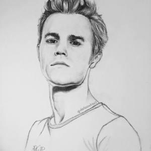 drawing salvatore stefan vampire diaries sketch pencil realistic