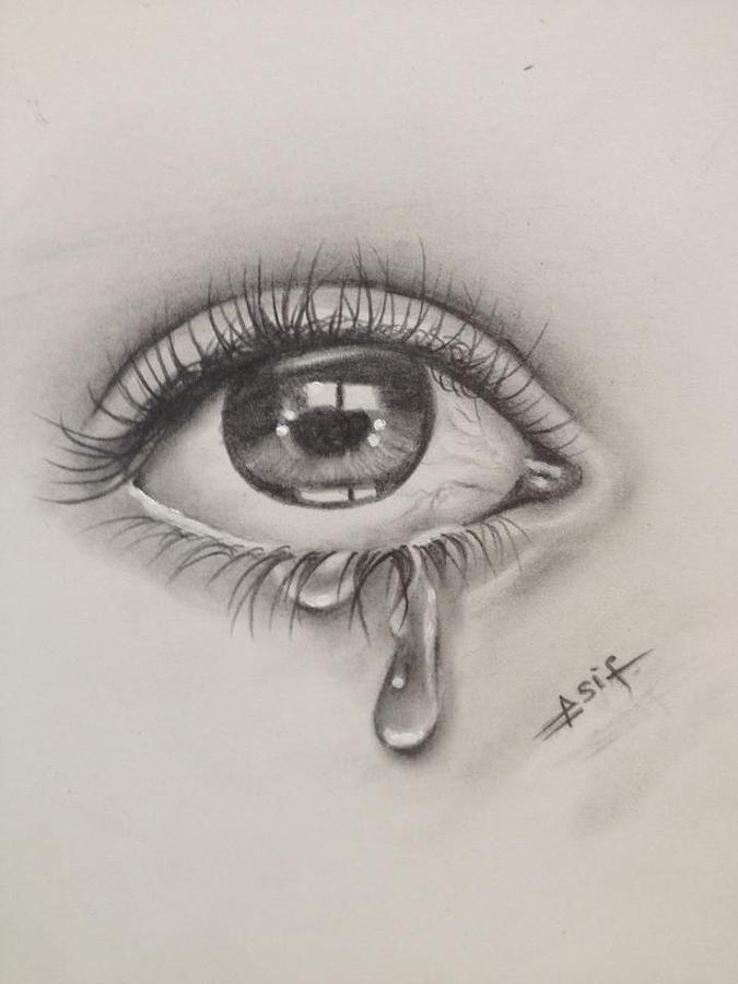 How To Draw A Teardrop : teardrop, Tears, Learn