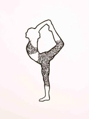 yoga drawing drawings pose dancer poses pen sketch namaste dance artwork similar items pencil dancers meditation ink project