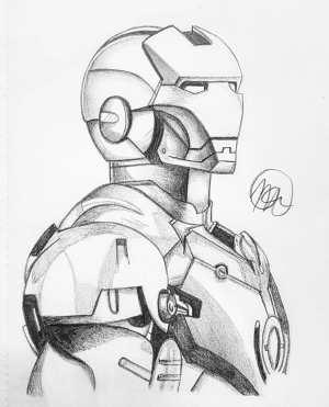 drawing iron marvel comics pencil sketch realistic drawingskill