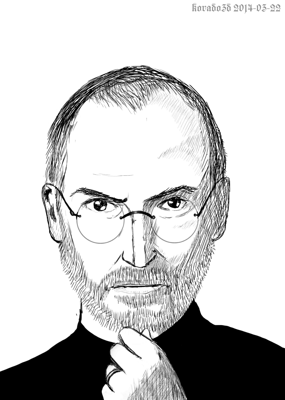Steve Jobs Drawing : steve, drawing, Steve, Drawing, Sketch, Skill