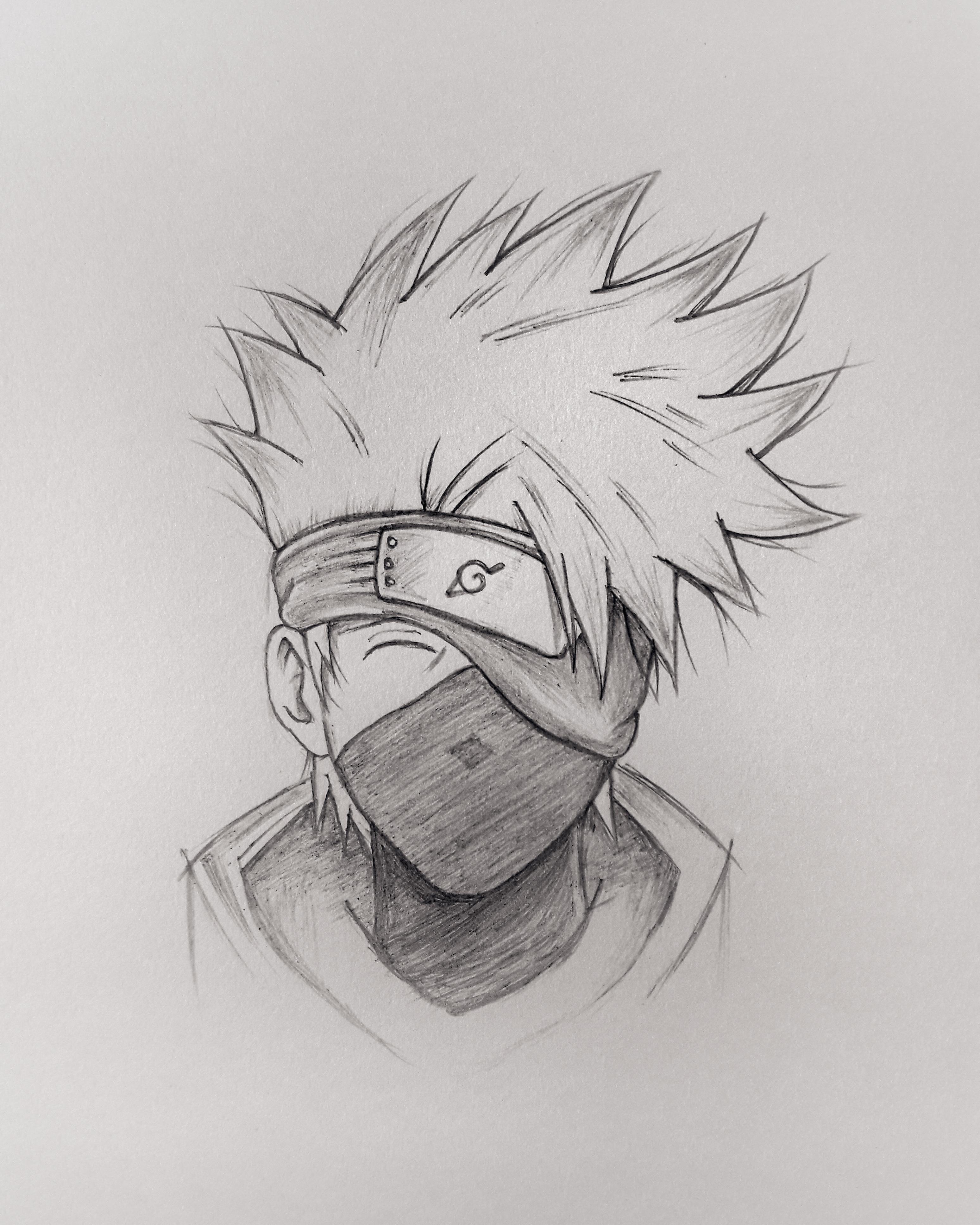 Kakashi Hatake Drawing : kakashi, hatake, drawing, Kakashi, Hatake, Drawing, Photo, Skill