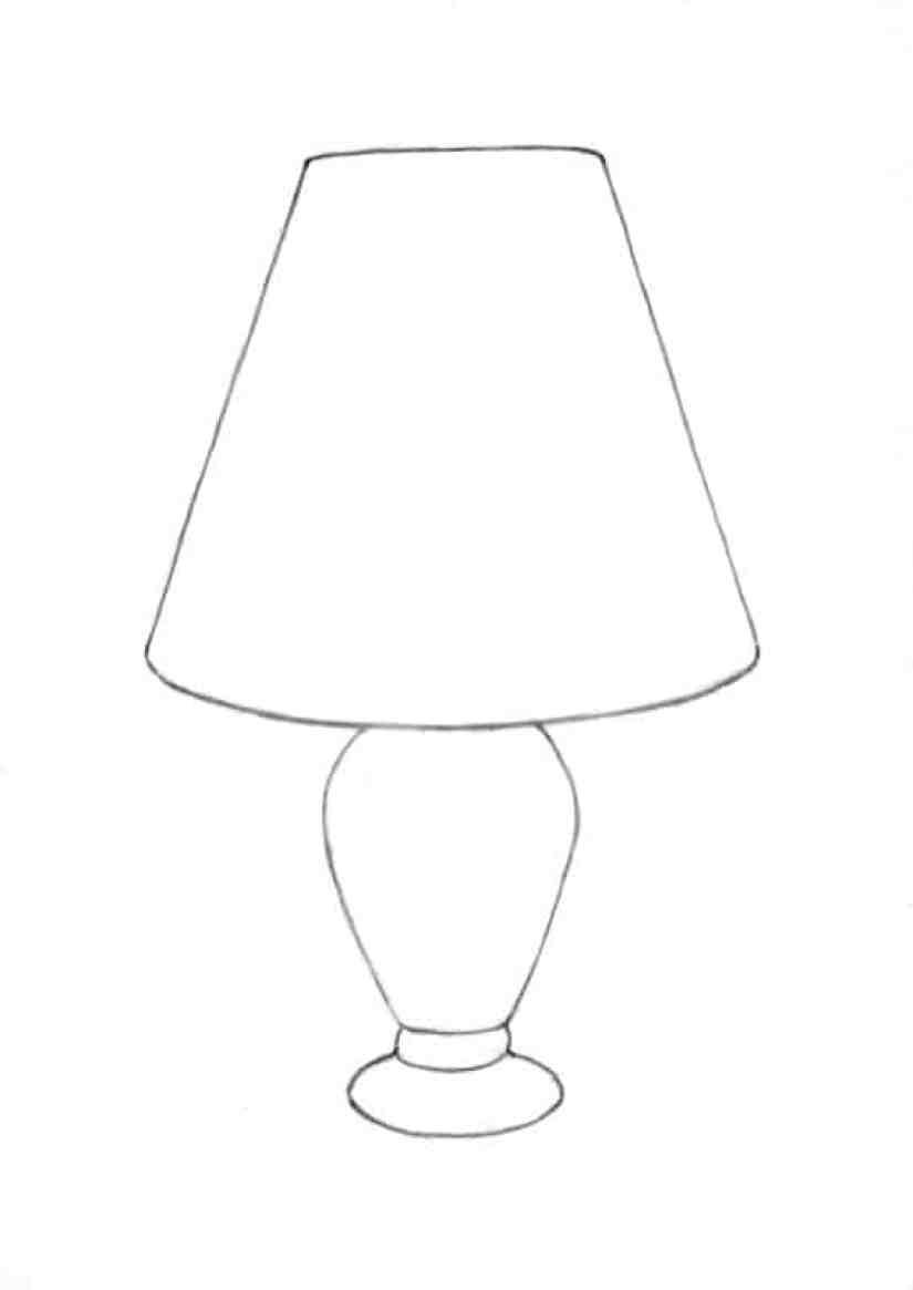 Lamp Drawing Easy : drawing, Drawing, Skill