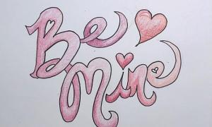 valentines drawing drawings mine valentine