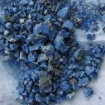 Crushed azurite