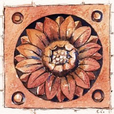 Terracotta tile, King St, Newcastle under Lyme