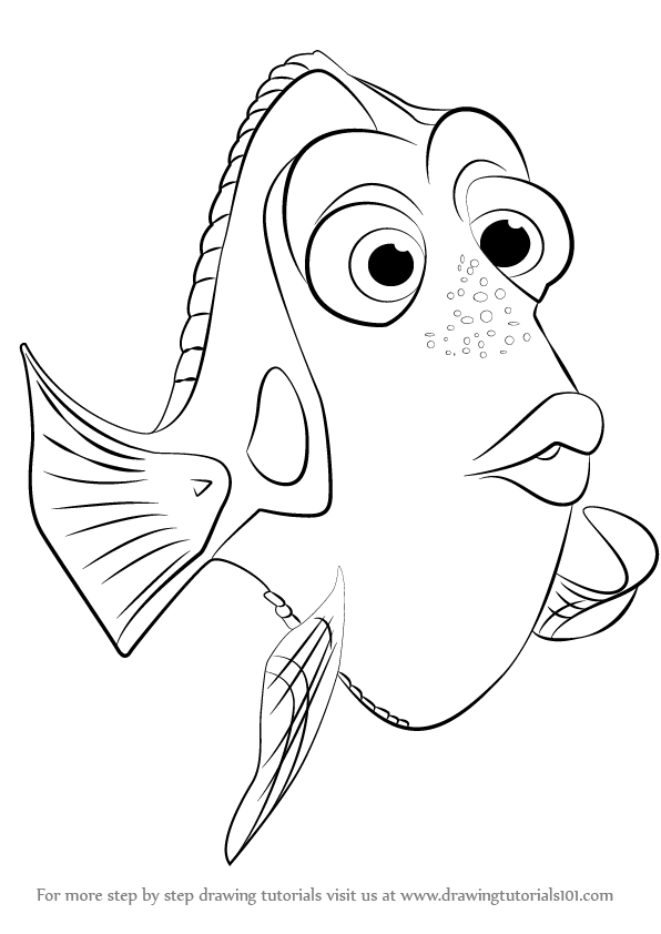How To Draw Dory : Finding, DrawingTutorials101.com