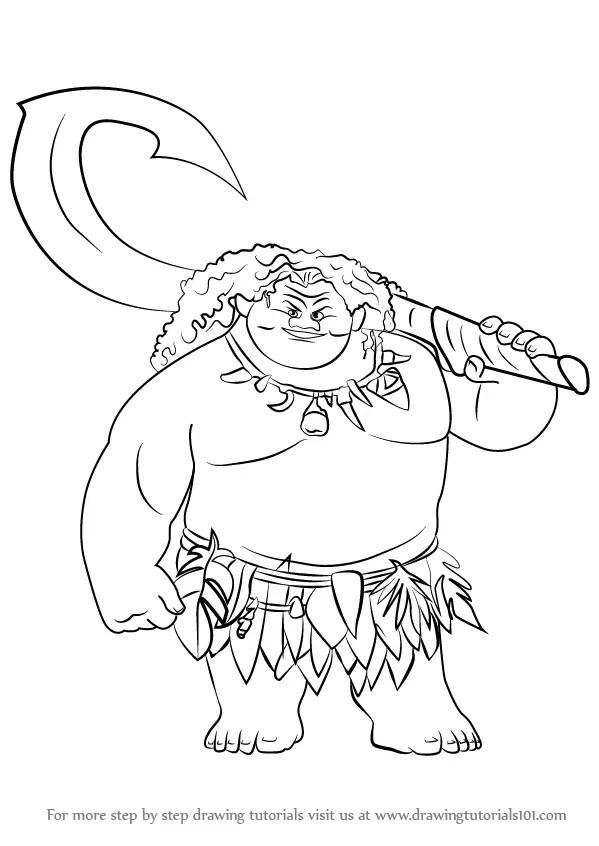 Moana Drawing Easy : moana, drawing, Learn, Moana, (Moana), Drawing, Tutorials