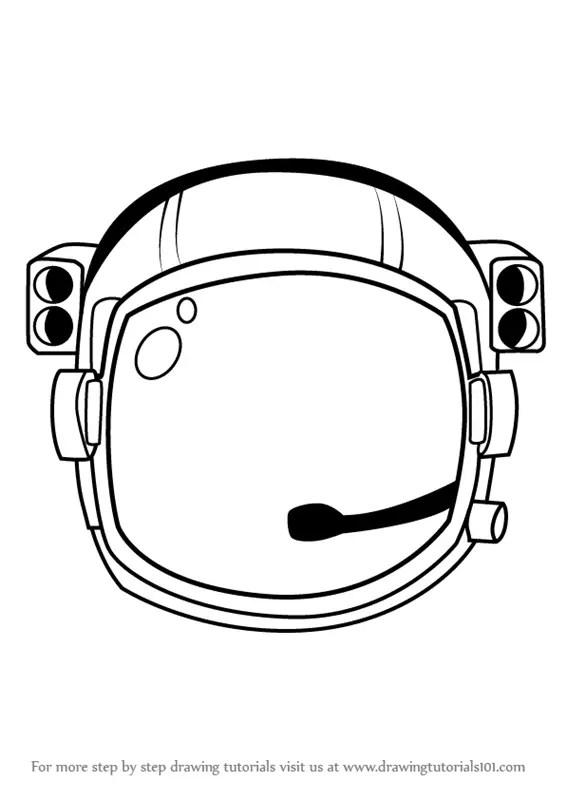 Astronaut Helmet Drawing : astronaut, helmet, drawing, Astronaut's, Helmet, DrawingTutorials101.com