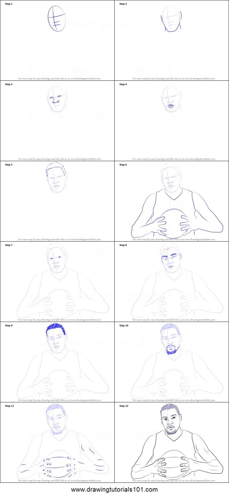 How To Draw Kevin Durant : kevin, durant, Kevin, Durant, Printable, Drawing, Sheet, DrawingTutorials101.com