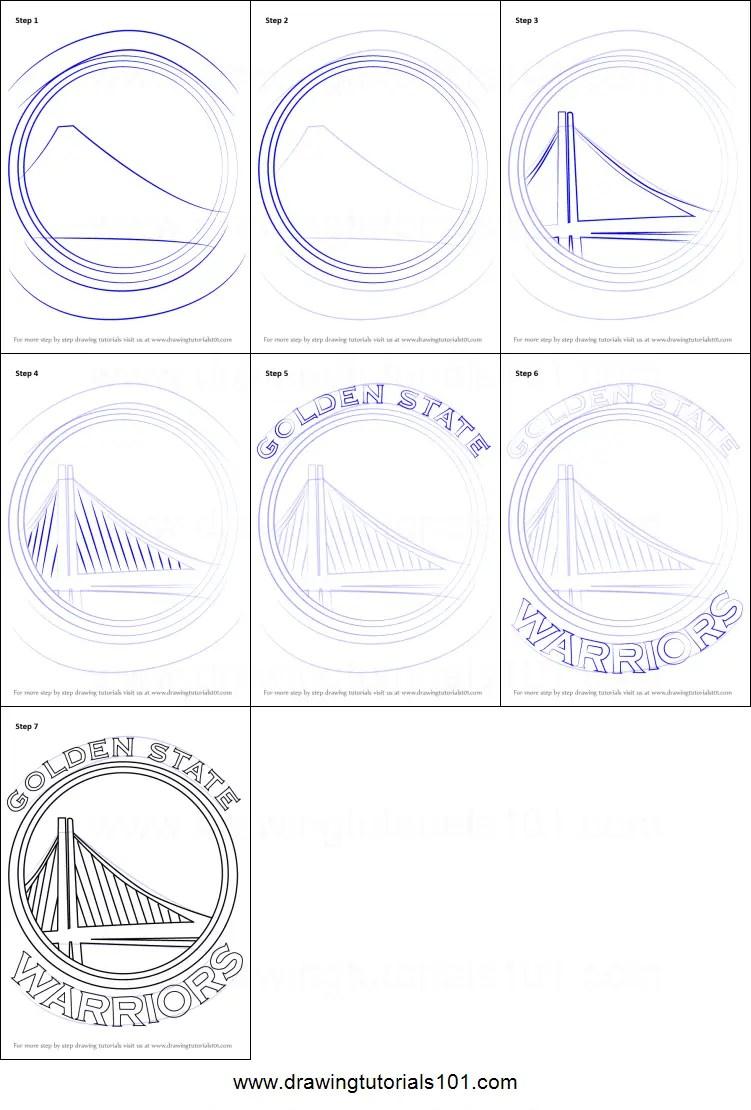 How To Draw Instagram Logo : instagram, Golden, State, Warriors, Printable, Drawing, Sheet, DrawingTutorials101.com