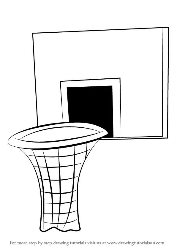 Basketball Hoop Drawing : basketball, drawing, Basketball, DrawingTutorials101.com