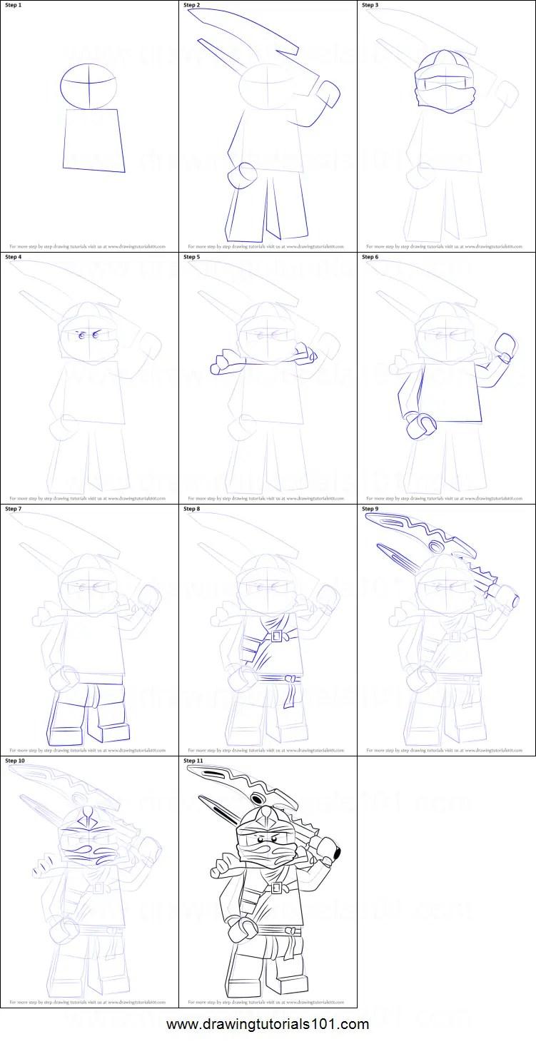 How To Draw Jay From Ninjago : ninjago, Ninjago, Printable, Drawing, Sheet, DrawingTutorials101.com
